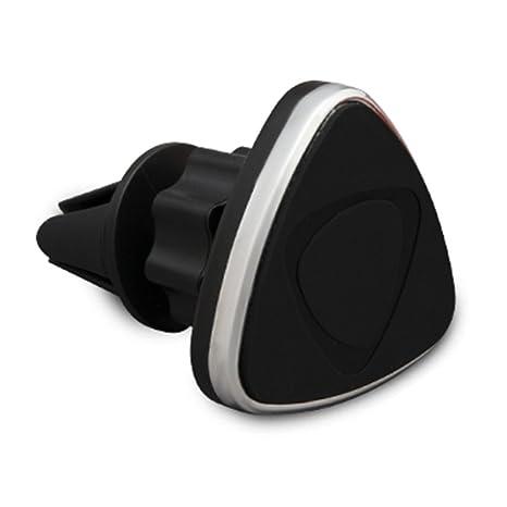 Aquarius Soporte para GPS triangular con imán, para rejilla de coche, giratorio
