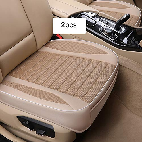 MHSZZAO Ultra-Luxury(W20.8×20.5×T4 Inch) Single Seat Without Backrest Senior Flax Car Seat Protection Car Seat,Car Seat Covers for Most Four-Door - Car Flax