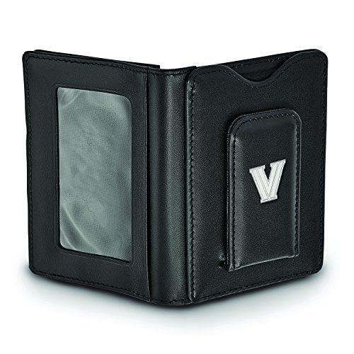Univ Logoart Money Wallet Clip Leather Silver Sterling Villanova Black Sw4qHt1w