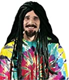 Dreadlock Wig - 30 Inch - Adult Wig ~ Rasta ~ Halloween, Black, One Size