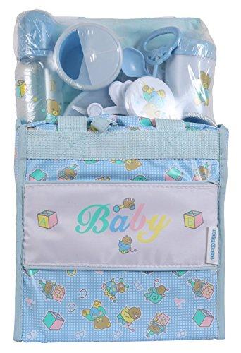 Big Oshi Baby Essentials 13 Piece Diaper Bag Feeding Gift Set - Blue