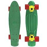 Cal 7 Color Blast 22 Inch Complete Mini Cruiser Standard Skateboard (Rastaman)