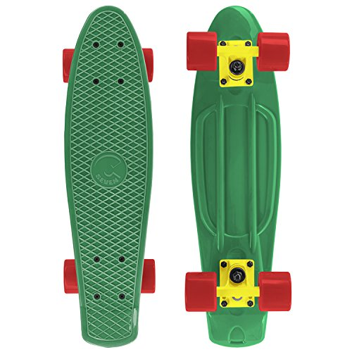 Cal 7 Complete Mini Cruiser | 22 Inch Micro Board | Vintage Skateboard for School and Travel ()