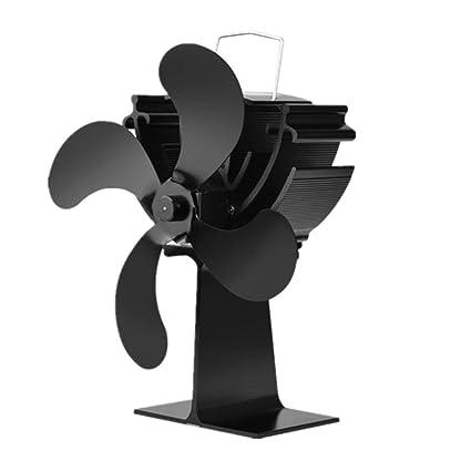 Ventilador de estufa de leña con energía térmica de 4 cuchillas para energía térmica/estufa