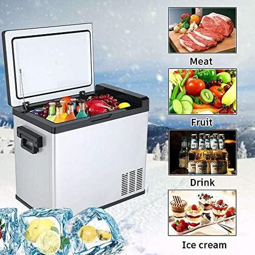 50L 12V / 24V自動冷蔵庫ポータブルミニ冷蔵庫コンプレッサーカー冷蔵庫カー冷蔵庫クーラー電気コマーシャル