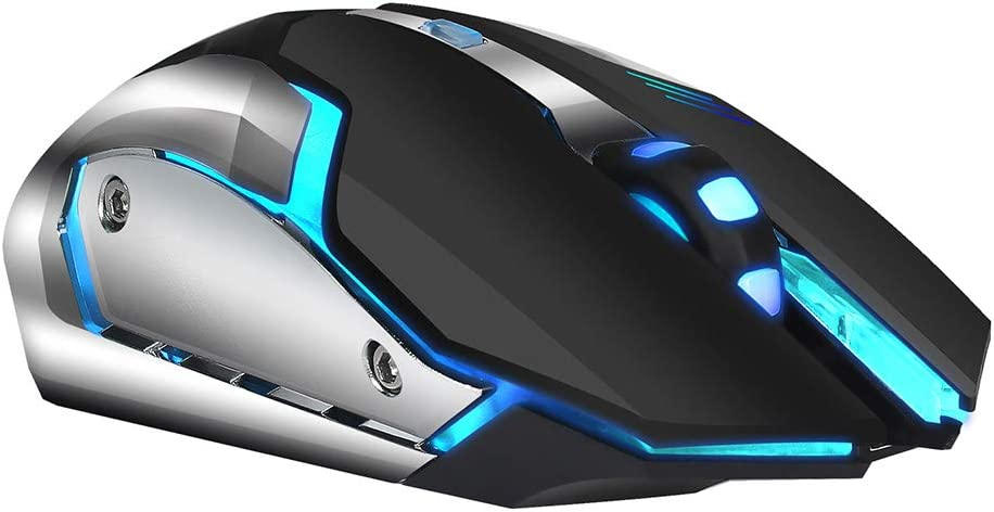RONSHIN 2.4G 2400DPI Rechargeable Wireless Mouse with Colorful Breathing Light Gaming Mouse