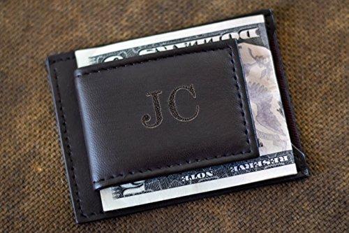 Genuine Leather Magnetic Money Clip for Men