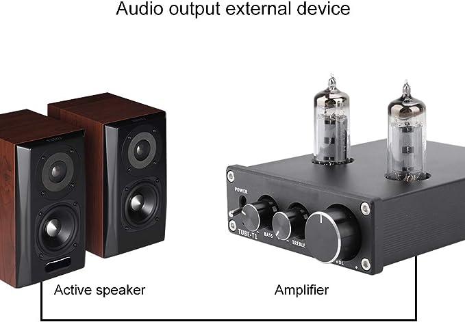 BTIHCEUOT Preamplificador de Audio, Tubo de válvula de electrones ...