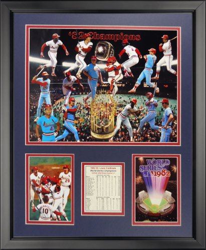 Legends Never Die 1982 St. Louis Cardinals Champions Framed Photo Collage, 16