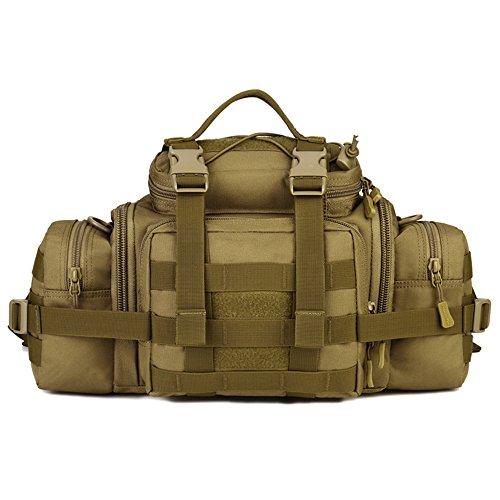 SUNVP Tactical Assault Gear Sling Pack Hiking Waist Fanny Pack Bag Shoulder Backpack EDC Camera Bag MOLLE Utility Carry Bag Heavy Duty with Shoulder Strap
