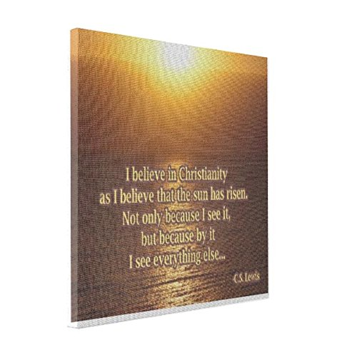 VetiVer Large Canvas Print C.S. Lewis Christianity Quote Canvas Print (Cs Lewis Quote Poster compare prices)