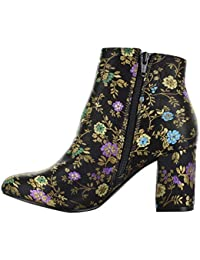 Womens Brodie Fabric Almond Toe Ankle Fashion Boots