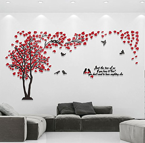 Family Living Room Design Ideas That Will Keep Everyone Happy: Hermione Baby 3D Couple Tree Wall Murals For Living Room