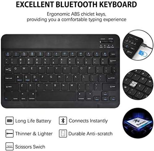 CHEERS Funda con Teclado para Tableta Galaxy S6 Lite, Funda de Piel Teclado Bluetooth Desmontable de diseño Estadounidense para Samsung Tab S6 Lite de ...
