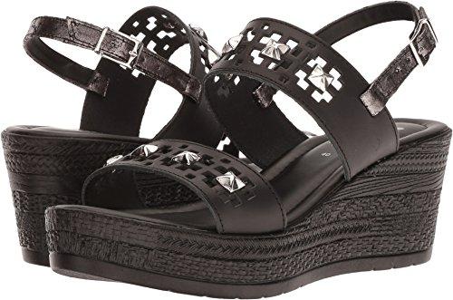 (Spring Step Women's MALHUN Wedge Sandal, Black, 42 M EU (US 10.5-11 US))