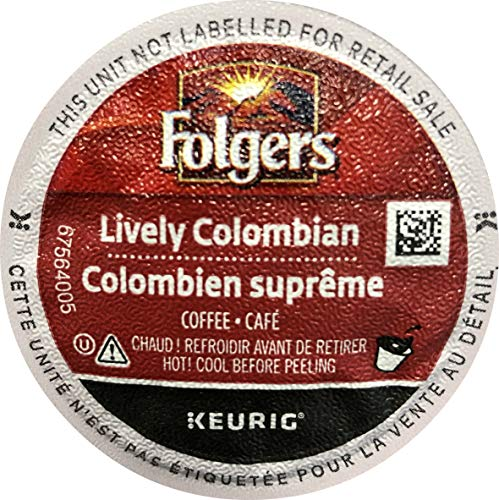 Folgers 100 percent Colombian medium-dark roast coffee single serve capsules for Keurig K-Cup pod brewers, 80 Count