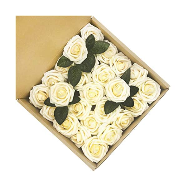 5ccmYoung-Fake-Flowers-Ivory-Roses-50pcs-Artificial-Roses-for-DIY-Wedding-Bouquets-Centerpieces-Arrangements-Party-Baby-Shower-Party-Home-Decorations