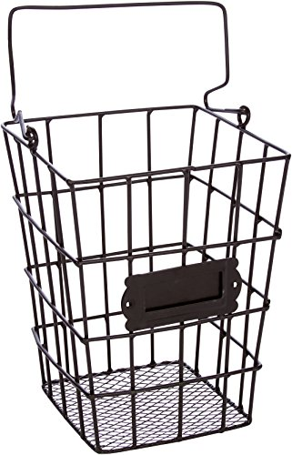 - Trademark Innovations Metal Wire and Mesh Hanging Utensil and Storage Basket