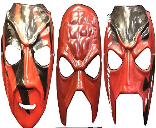 f883713d70 UK KANE ALL 3 COMPLETE SET FIBREGLASS WWE WWF WRESTLING COSTUME FANCY DRESS  UP MASK ADULT CHILD  Amazon.co.uk  Clothing