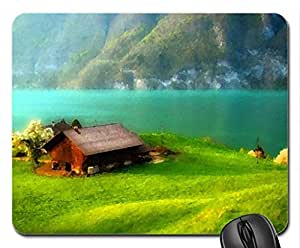 Welcome to dream valley Mouse Pad, Mousepad (Watercolor style)