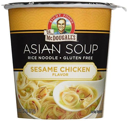 Dr McDougalls Sesame Chicken Rice Noodle Asian Soup, 1.3 Ounce - 6 per case.