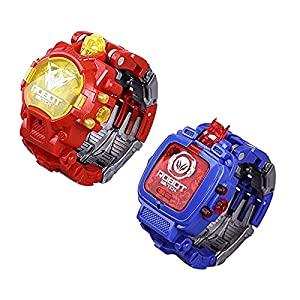XIANBAO 2PCS Transforming Robot Watch for Kids, 2 in 1 Digital Electronic Watch,Watch Robot Transform Watch Toy Suitable…