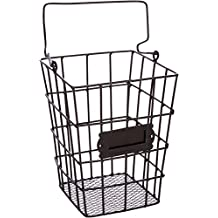 Trademark Innovations BSKT-WIRE-RECT Wire Mesh Hanging Utensil and Storage Basket