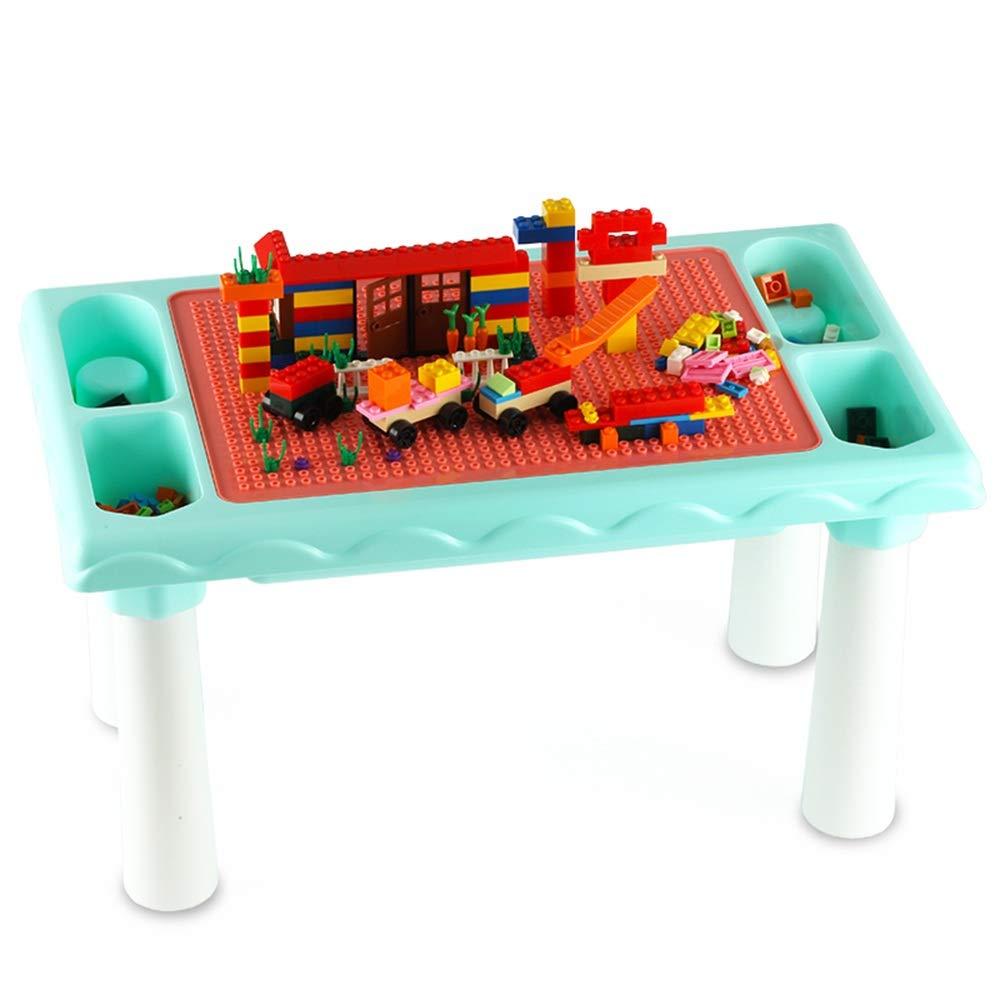 Blu Builde Learn Table Tavolo Da Gioco Puzzle For Bambini Da Ragazzo Multidivertimentozione Da Scrivania For Bambini Giocattoli del centro di apprendimento precoce ( Coloreee   Blu , Dimensione   25.5x30x48cm ) 25.5x30x48cm