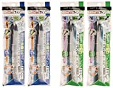 Tombow Fudenosuke 4 Brush Pen Bundle - 2 Soft Tip Pens + 2 Hard Tip Pens