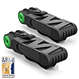 Foldylock Bike Lock Heavy Duty Foldable Bicycle Lock (Carrying Case Included) Unfolds to 35″/90cm (Black with Green (pack of 2)) Review