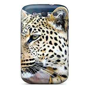 Cute Appearance Cover/tpu WCvQI17370CBtSN Leopards Stare Case For Galaxy S3