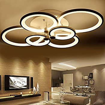 white color finish acrylic modern ceiling lights chandelier for livingroom bedroom kitchen room led circle 6 - Modern Ceiling Lights Living Room