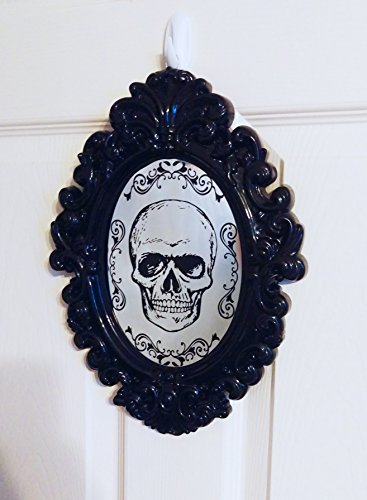 (Gothic Skull Mirrored Wall Plaque - Perfect for Halloween)