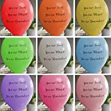 Angel & Dove 25 Rainbow Mix'You are Loved, Missed, Remembered' Funeral Balloons - Premium Quality Biodegradable Latex - for Remembrance, Condolence, Celebration of Life …