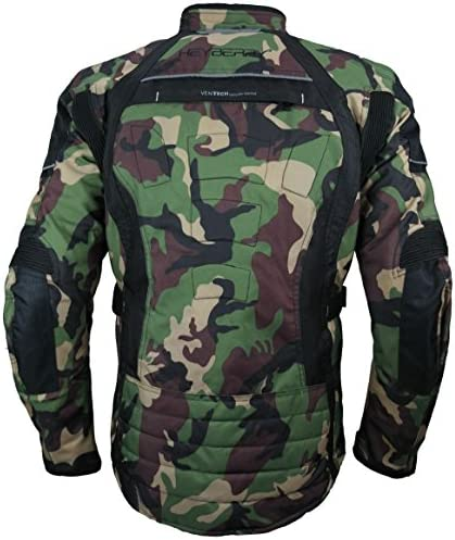Heyberry Touren Motorrad Jacke Motorradjacke Textil Camouflage Grün Gr L Auto