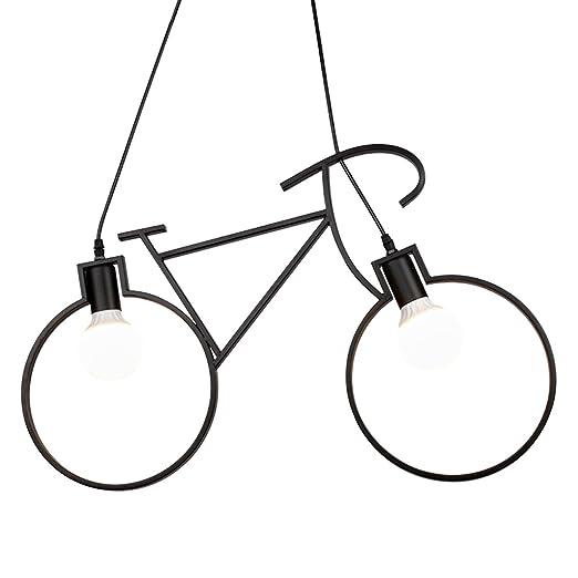 MLMH Lámpara Industrial De Bicicleta Vintage, Lámpara De Mesa De ...