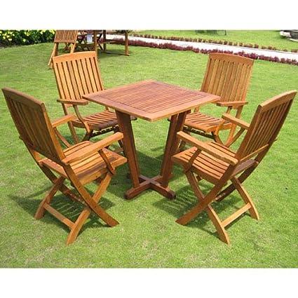 Amazon.com: International Caravan ST 015 FA 040 4CH IC Furniture Royal  Tahiti Gibraltar 5 Piece Dining Group: Kitchen U0026 Dining
