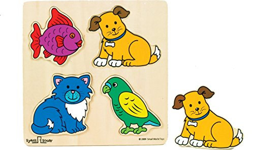 Ryans Room Pet Set - Small World Toys Ryan's Room Wooden Puzzle - Pets 4 Pc.