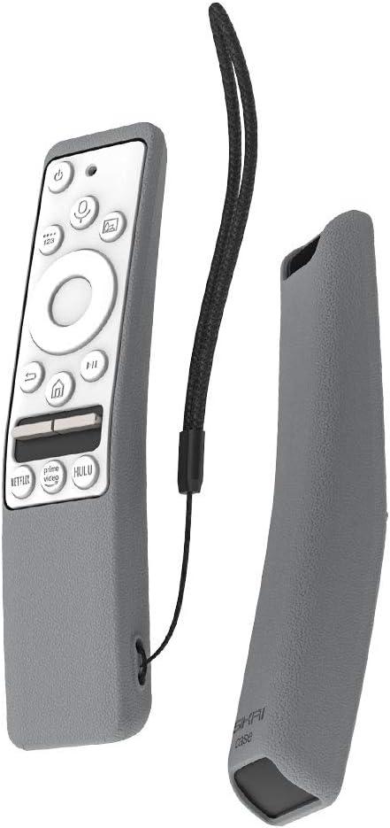 SIKAI CASE Funda Protectora Compatible con Mando de Samsung UHD 4K Smart TV Bluetooth Remote Control RMCSPR1BP1 / BN59-01312A Antideslizante Cubierta de Silicona a Prueba de Golpes (Gris & Blanco): Amazon.es: Electrónica