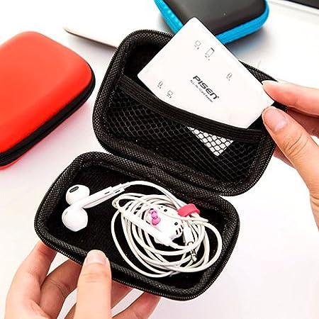 Desconocido Generic - Caja de Cables para Auriculares (Goma EVA, sin Auriculares), Caja de Almacenamiento para Cables de línea de Datos: Amazon.es: Hogar