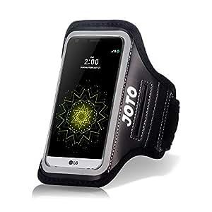 LG G5 Armband Case, JOTO Sport Exercise Armband for 2016 LG G5, with Key Holder, Credit Card Money Holder, Sweat Proof, Best for Gym Fitness Walking Jogging Workout G5 running arm belt (Black)