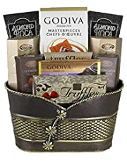 Godiva and French Truffles Chocolate Gift Basket - Chocolate Candy Gift Baskets for Special Occasions Christmas Baskets, Birthday Gifts, Graduation Gifts, and Other Events, Gifts for Women and Men