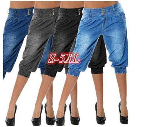 4 Jean Gris Femme nostalgique 3 Pantalon hellomiko Sarouel Fashion Z1I6w