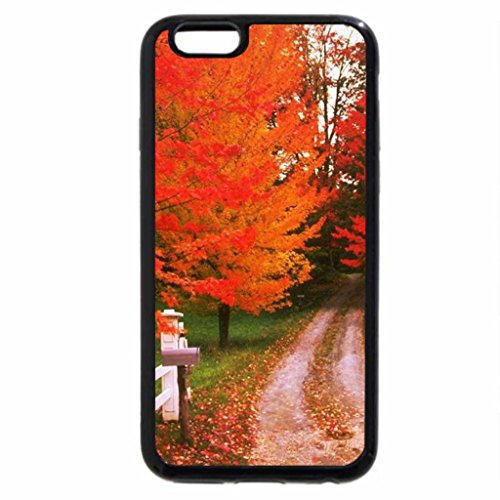 iPhone 6S Case, iPhone 6 Case (Black & White) - Autumn gate.