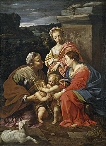 Toddler Mossy Oak Flower Girl Dress ('Vouet Simon Virgin And Child With Saint Elisabeth The Infant Saint John And Saint Catherine 1624 26 ' Oil Painting, 30 X 41 Inch / 76 X 105 Cm ,printed On High Quality Polyster Canvas ,this High Definition Art Decorative Prints On Canvas Is Perfectly Suitalbe For Home Theater Decoration And Home Decoration And Gifts)