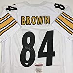 d39c6a6231a Autographed Signed Antonio Brown Pittsburgh White Football Jersey JSA COA