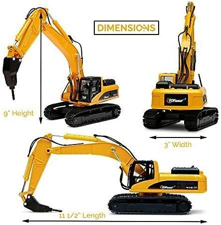 Top race metallo trapano escavatore trattore giocattolo CNo