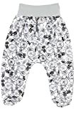 Patterned Baby Girls Boys Leggings Trousers With Feet 100% Cotton Jersey (62cm (0-3 Months), Bicycles-Grey/Multi)
