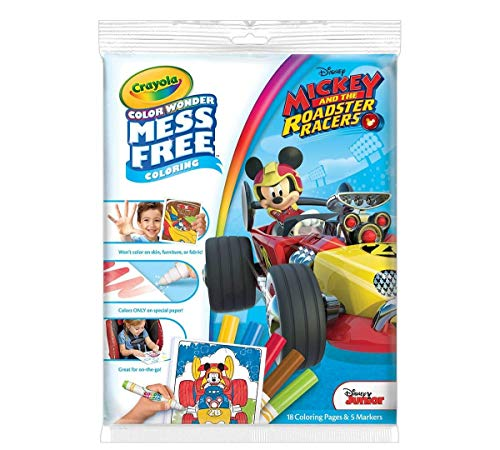 Crayola Mickey and the Roadster racers Color Wonder Paper and Markers (Change The Color Of Your Car Without Paint)