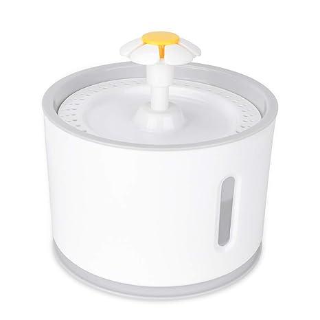 Iseebiz Fuente Agua Mascotas, 2.4 litro Fuente Agua para Gatos o Perros de PP con